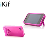 iKit iPhone Pink Flip Hard Case w/Kickstand (4 & 4S)