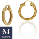 Madison & Mulholland - Naturus Hoop Earrings